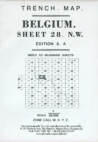 Belgian worl war one british army issue trench maps belgium sheet 28 nw ed 4a loc3 gumiabroncs Gallery